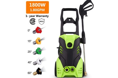 Homdox HX4000 Electric Pressure Washer, 1.80GPM 1800W High Power Washer Cleaner Machine