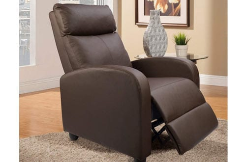 Devoko Manual Single Recliner Chair PU Leather Modern Living Room Sofa