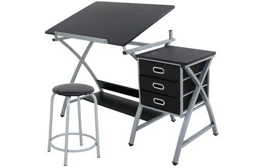 ZENY MDF Folding Art & Craft Drawing Tables with Stool