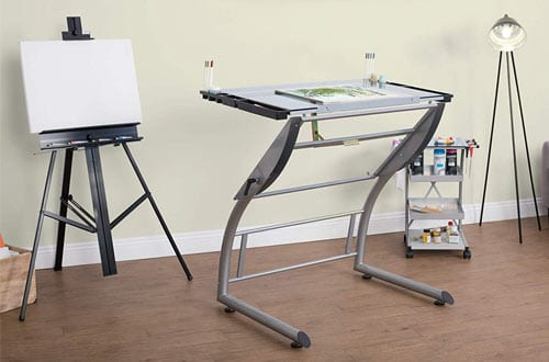 Studio Designs Adjustable Triflex Glass Drawing Tables