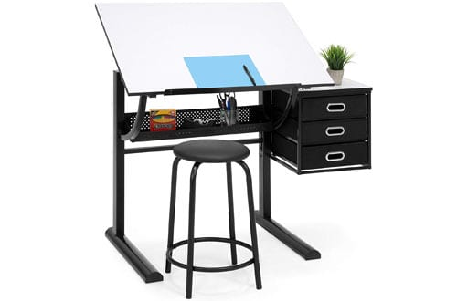 Folding Adjustable Drawing Drafting Craft Art Table
