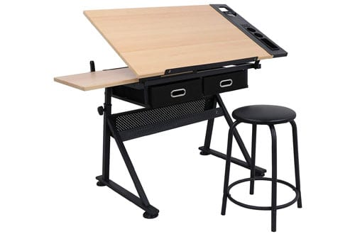 ZENY Height Adjustable Drafting Table & Drawing Desk
