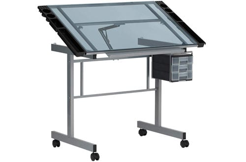 Studio Designs 10053 Vision Glass Drafting Table