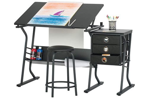 STUDIO DESIGNS Black 13365 Black Eclipse Drawing Tables