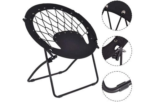 Giantex Outdoor Folding Bunjo Bungee Chair for Kids & Adults
