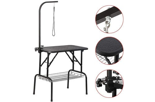 Yaheetech Portable Adjustable Pet Grooming Table for Small Dogs