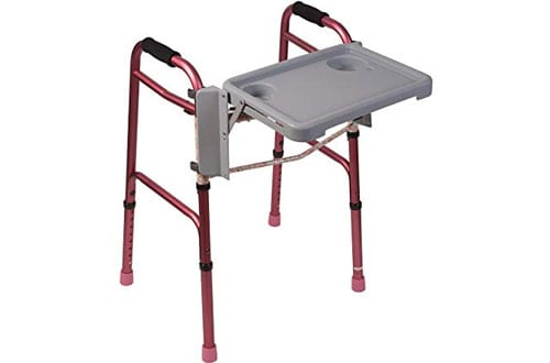 Duro-Med Folding Walker Tray Table for Seniors and Handicap