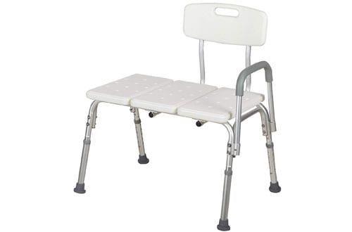 Mecor Medical Shower Chair Bathtub Seat Bench with Back and Arm