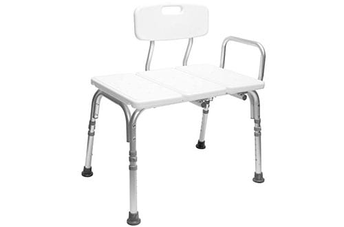 Carex Shower Chair Transfer Bench with Height Adjustable Legs