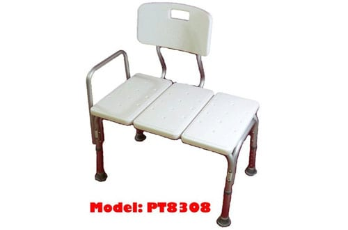 MedMobile Bathtub Transfer Bench/Bath Chair with Back