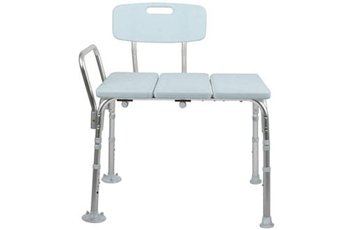 Medline Microban Medical Transfer Bench for Bath Safety
