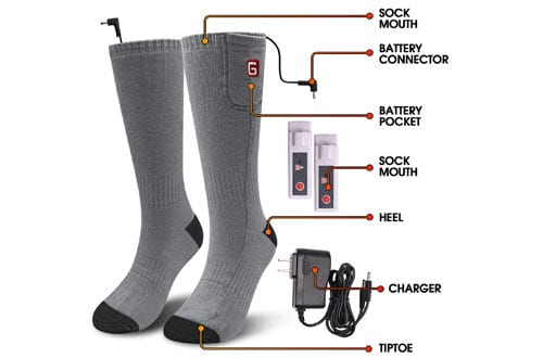 GLOBAL VASIONWinter Electric Rechargeable Thermal Sock for Men and Women