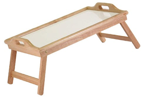Winsome Wood 98122 Sherwood Natural and white top Bed Tray