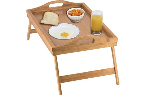 Home-it Bed Tray Table & breakfast in Bed Tray with Folding Legs