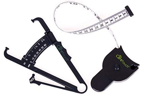 Care Touch Skinfold Body Fat Caliper & Measure Tape