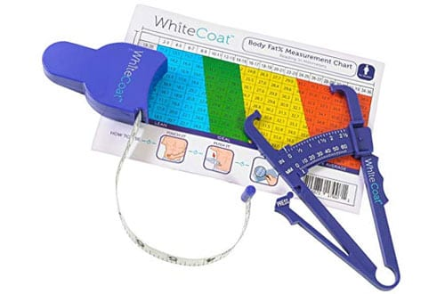 White Coat Skinfold Body Fat Caliper and Body Tape Measure Set