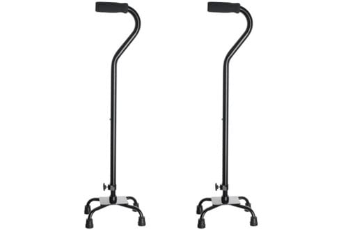 Medline Small Base Black Quad Cane
