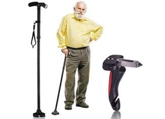 Dr. Maya Lightweight, Adjustable and Foldable Walking Cane  for Elderly Men and Women