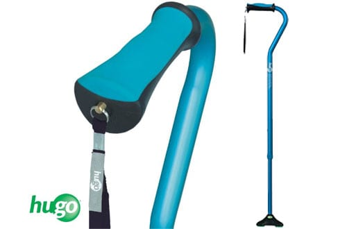 Hugo Mobility Quadpod Offset Cane with Ultra Stable Cane