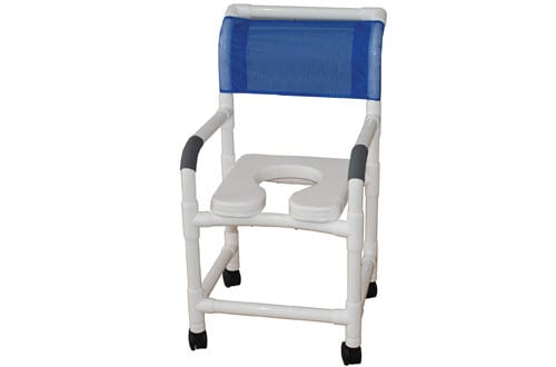 MJM International Standard Shower Chair with Wheels