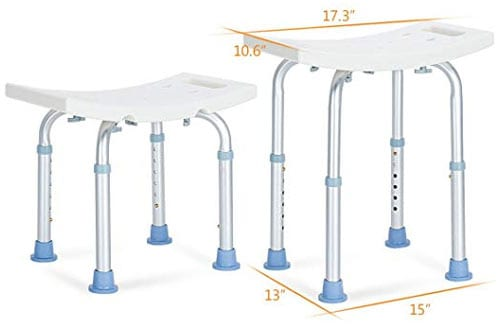 OasisSpace Medical Shower Chairwith Durable Aluminum Legs