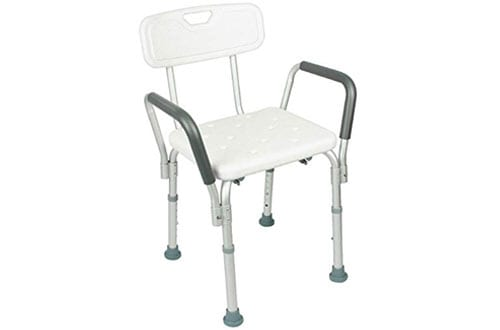 Vive Bariatric and Handicap Shower Chair with Armrest for Disabled, Seniors and Elderly