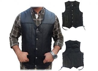 Men Leather Motorcycle Vests, Leather Motorcycle Vests