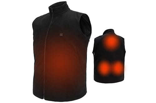 USB Electric Heated Vest Fleece Soft Texture Size Adjustable Washable Electric Clothing Charging Heating Vest Clothing for Winter Skiing Hiking Motorcycle Travel Fishing Golf (No Battery)