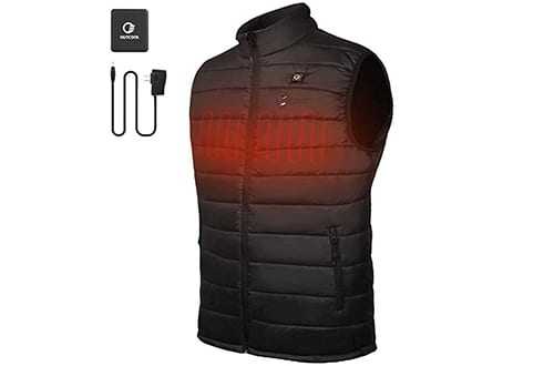 OUTCOOL Men's Heated Vest Light Weight Insulated Heating Down Vest