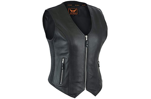 Women Leather Motorcycle Vests, Leather Motorcycle Vests