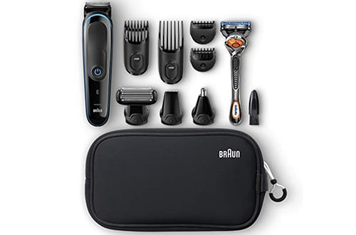 Braun Multi Grooming Kit MGK3980 Black/Blue – 9-in-1 Precision Beard Trimmers and Hair Styling