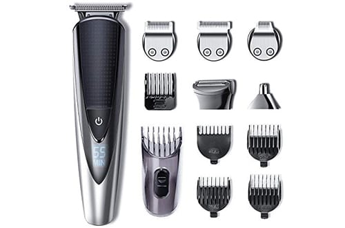 Hatteker Mens Beard Trimmers Kit Body Mustache Trimmer Hair Trimmer for Nose Ear Grooming Trimmer Kit Body Grommer for Men Waterproof Cordless USB Rechargeable All-in-One