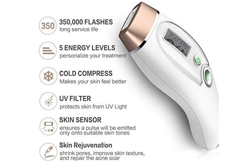 YIKAVA Permanent IPL Hair Removal for Women Home Use