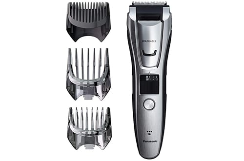 Panasonic Body and Beard Trimmers for Men ER-GB80-S, Cordless/Corded Hair Clipper, 3 Comb Attachments and 39 Adjustable Trim Settings, Washable