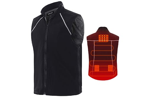 Vinmori Electric Heated Vest Washable Size Adjustable Soft Texture USB Heated Clothing for Motorcycle Snowmobile Bike Riding Hunting Golf (Battery Not Included)