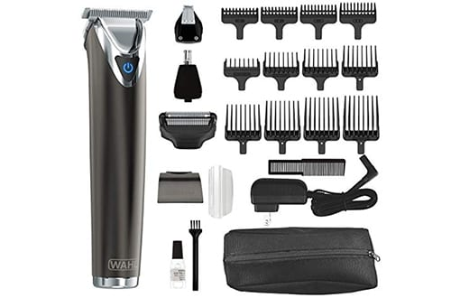 Wahl Clipper Slate Stainless Steel Lithium Ion Plus Beard Trimmers for Men, Electric Shavers, Nose Ear Trimmers, Rechargeable All in One Men's Grooming Kit, by the Brand used by Professionals