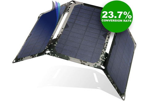 LICORNEPortable Solar Power Charger with Dual USB Ports for Outdoor
