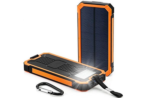 Waterproof 300000mAh Portable Dual USB Solar Battery Power Bank