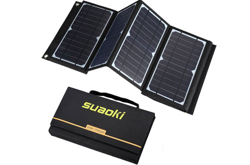 SUAOKI 60W Portable Solar Panel Chargerfor Laptop Tablet GPS iPhone iPad