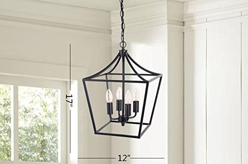 Homenovo Lighting Marden Light Chandelier for Entryway, Hallway and Dining Room
