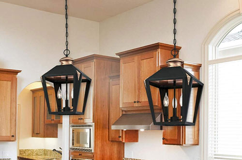 Westinghouse Lighting Valley Forge Three-Light Indoor Pendant with Copper Accents