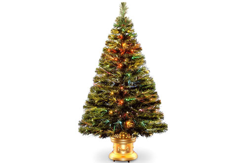 National Tree 48 Inch Fiber Optic Radiance Fireworks Tree with LED Lights