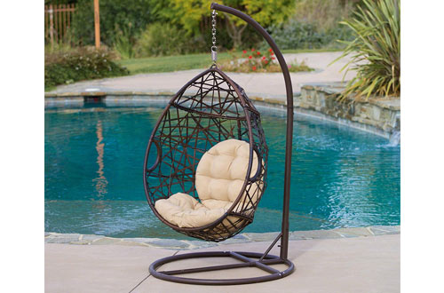 Christopher Knight Home Outdoor Wicker Tear Drop Hanging Egg Chairs