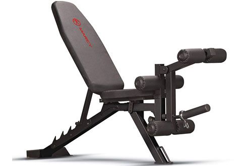 Marcy Adjustable Utility Bench with Leg Developer and Foam Padding